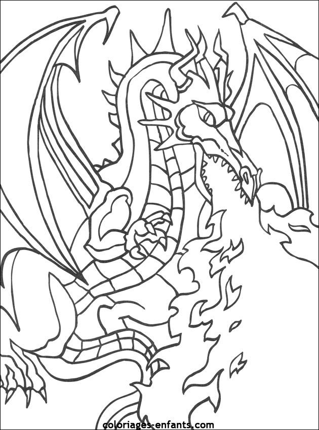 157 dessins de coloriage dragon imprimer sur laguerche - Coloriages de dragons ...