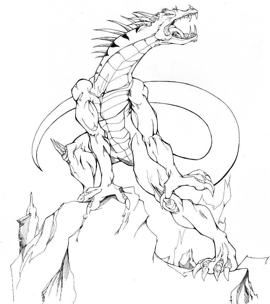 Image de dragon a imprimer et colorier