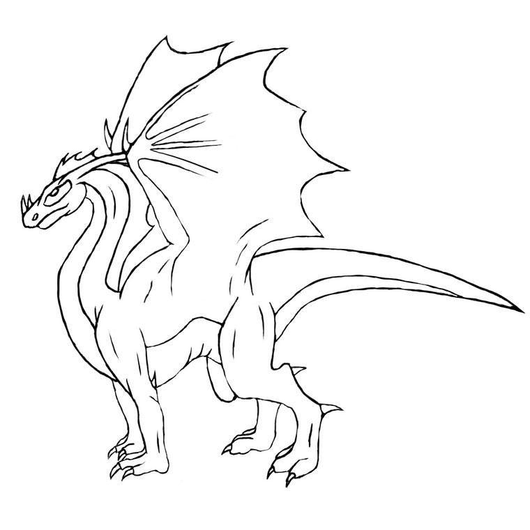 157 dessins de coloriage dragon imprimer sur page 4 - Dessin a imprimer dragon ...