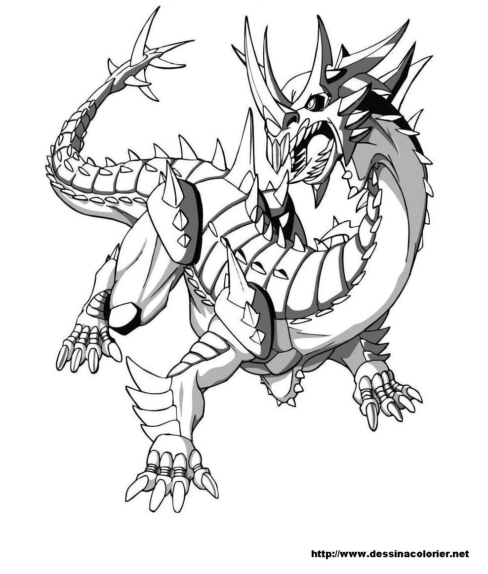 Coloriage de dragon gratuit