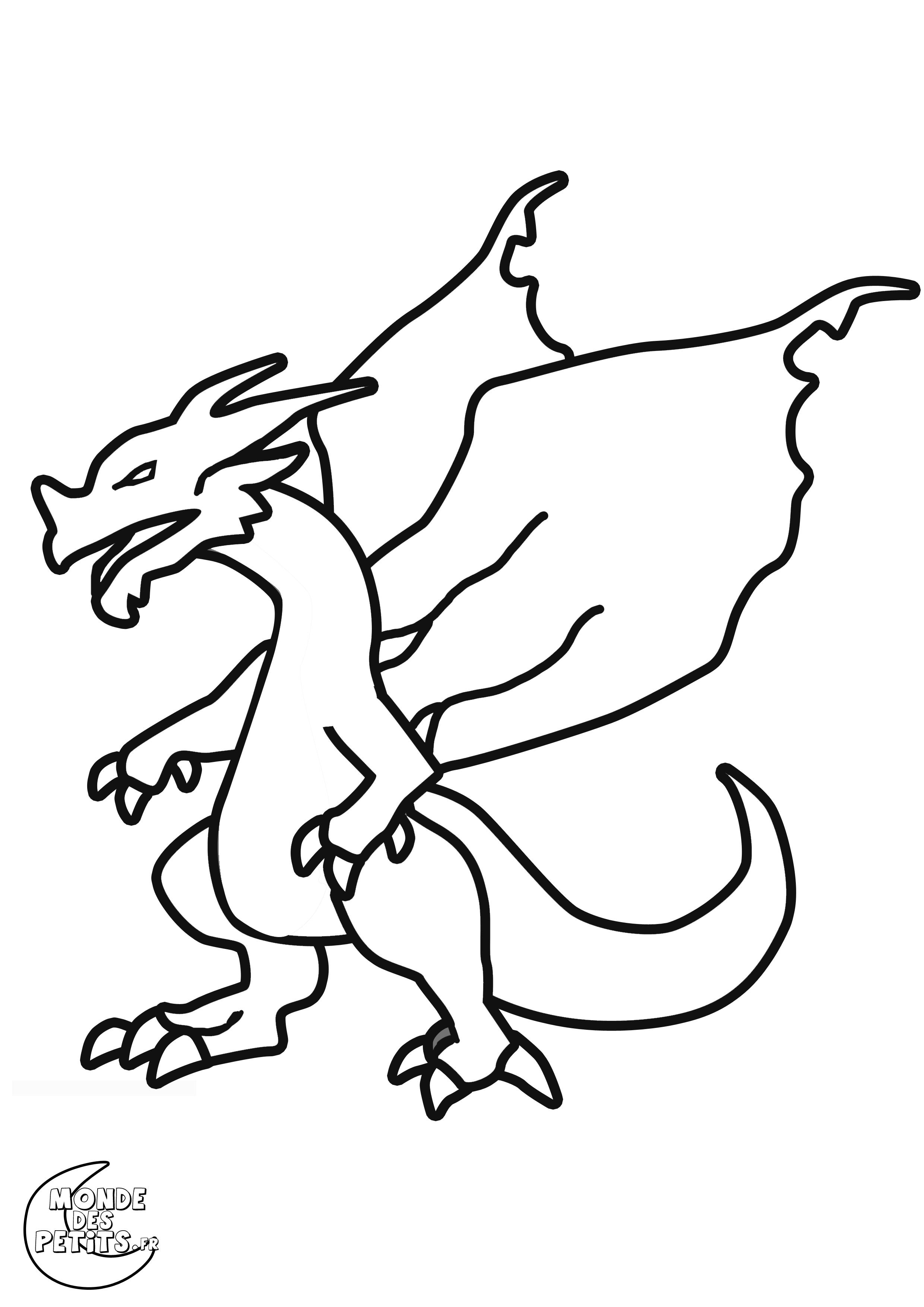 Dessin gratuit dragon a imprimer et colorier