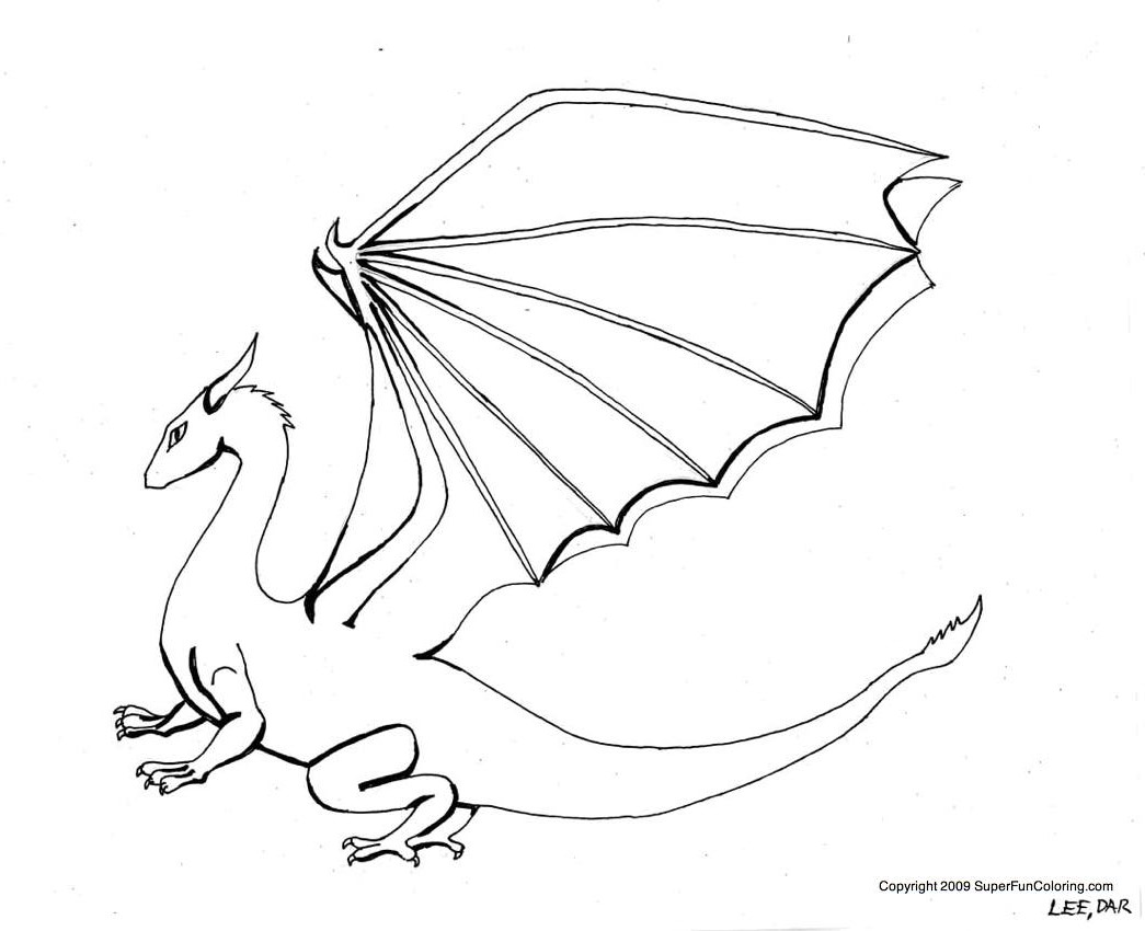 157 dessins de coloriage dragon imprimer sur laguerche - Dessin dragon simple ...