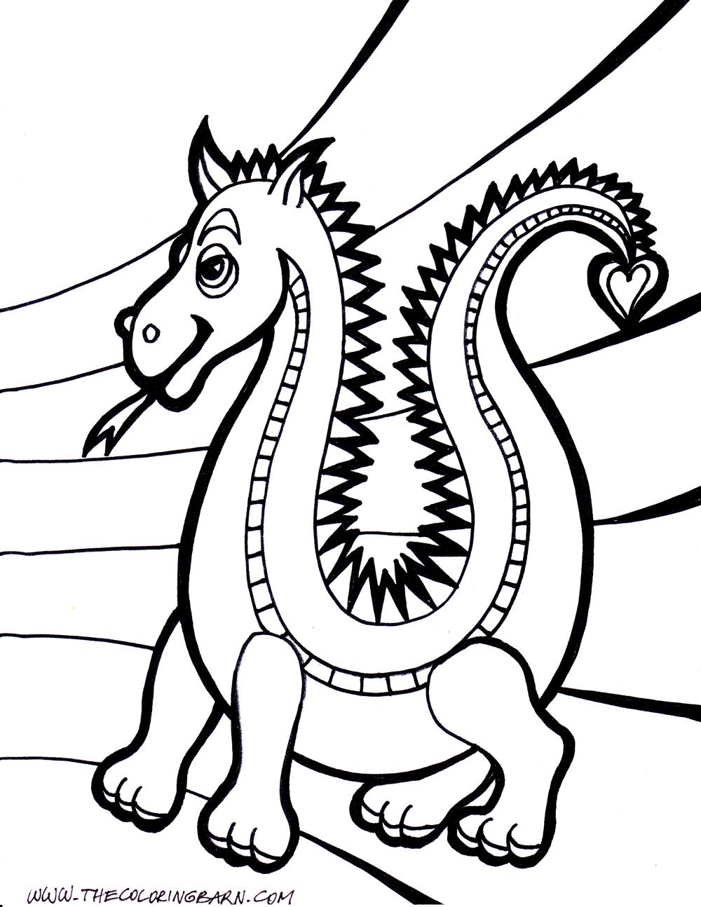 Dessin de dragon Dragon dessin  colorier