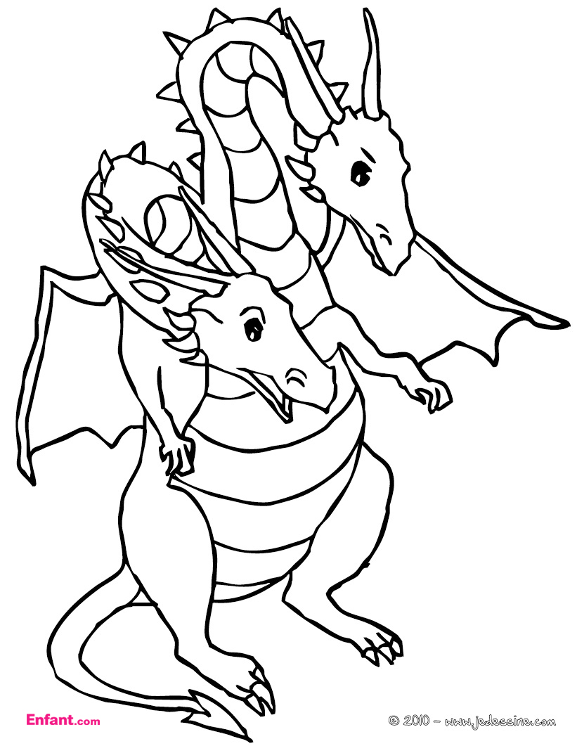 Dessin de dragon a imprimer Coloriages