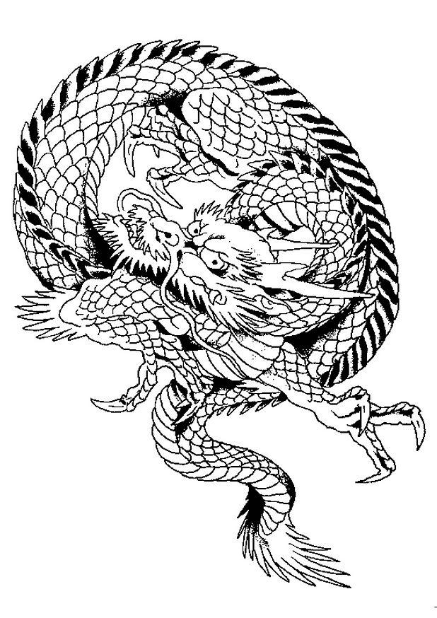dessin de dragon gratuit
