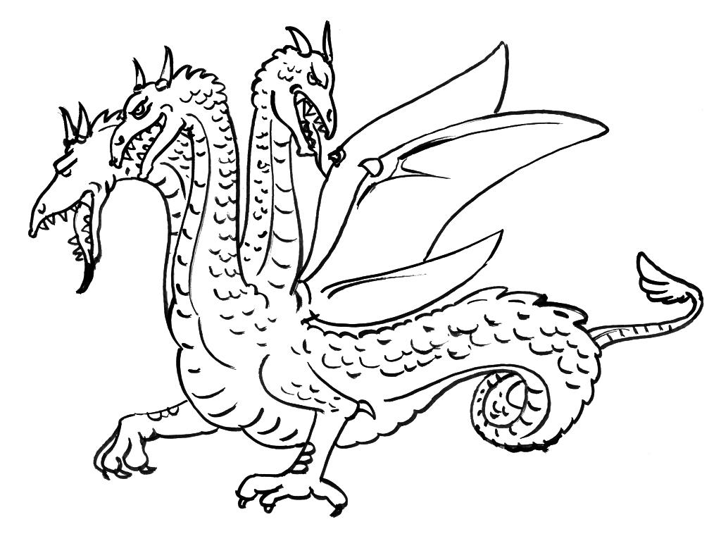 Dessin de dragon Coloriage
