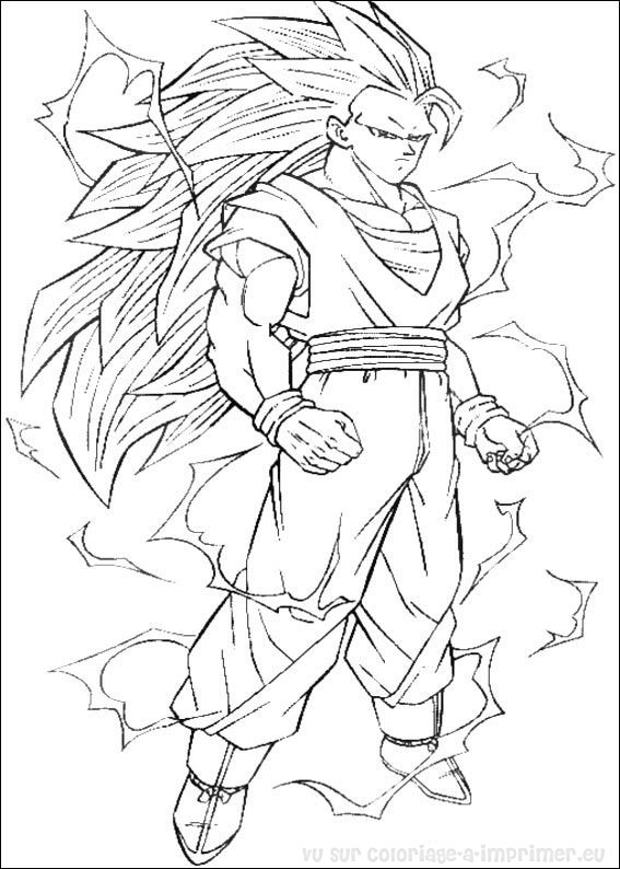 112 dessins de coloriage dragon ball z imprimer sur - Dessin de dragon ball za imprimer ...