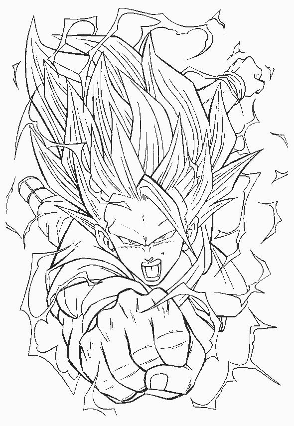 112 Dessins De Coloriage Dragon Ball Z à Imprimer Sur Laguerchecom