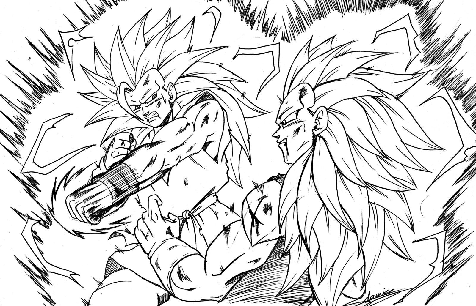Dibujos Para Colorear Goku Para Imprimir: 112 Dessins De Coloriage Dragon Ball Z à Imprimer Sur