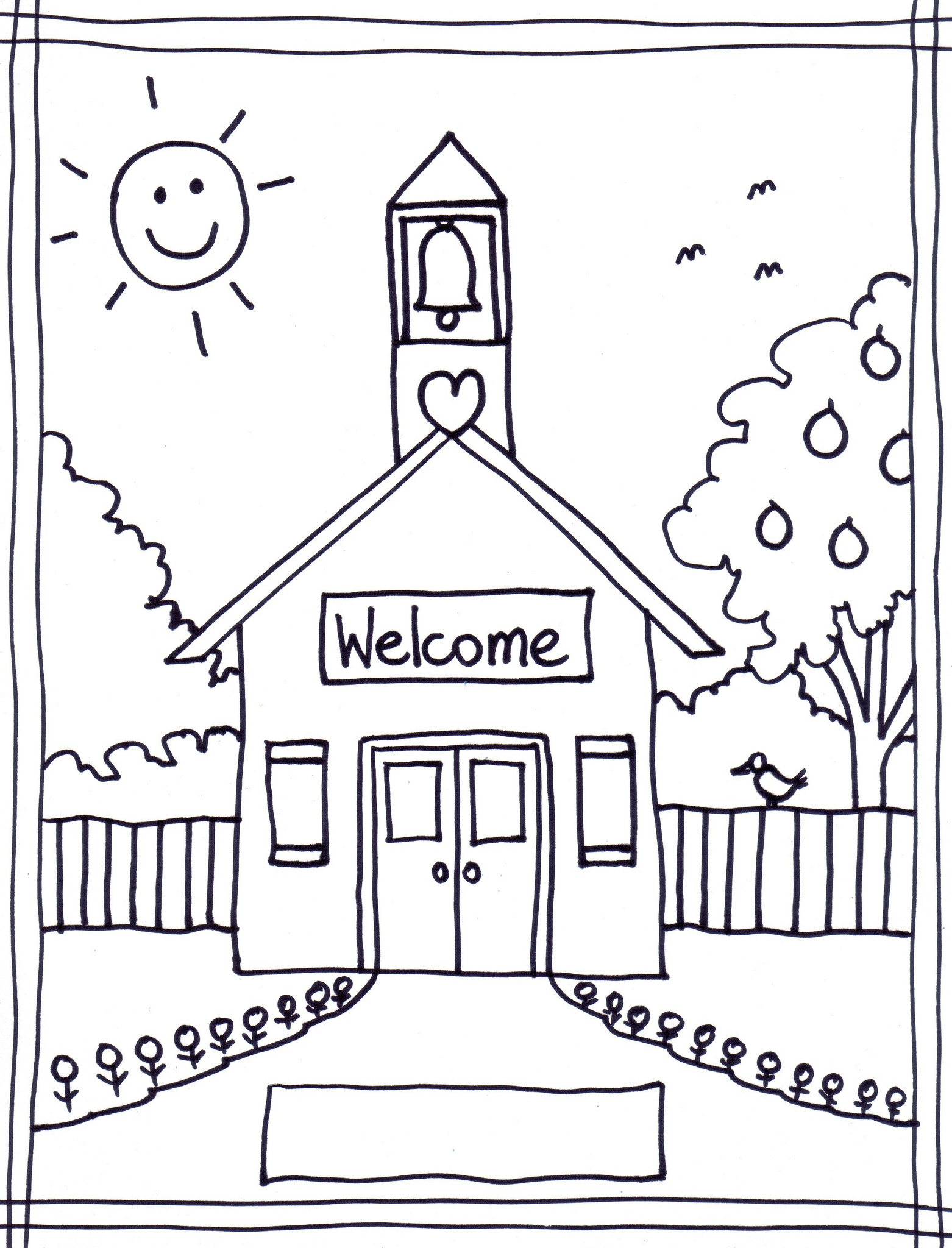 my first school coloring pages - photo#14