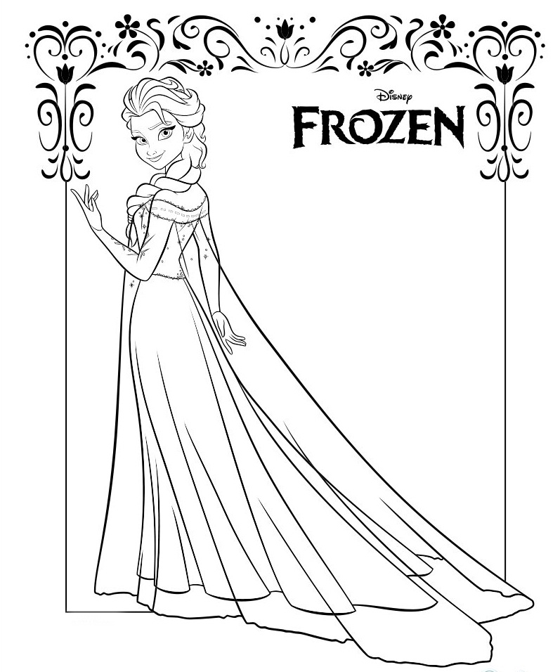 Chibi frozen coloring pages coloring pages - Elsa coloriage ...