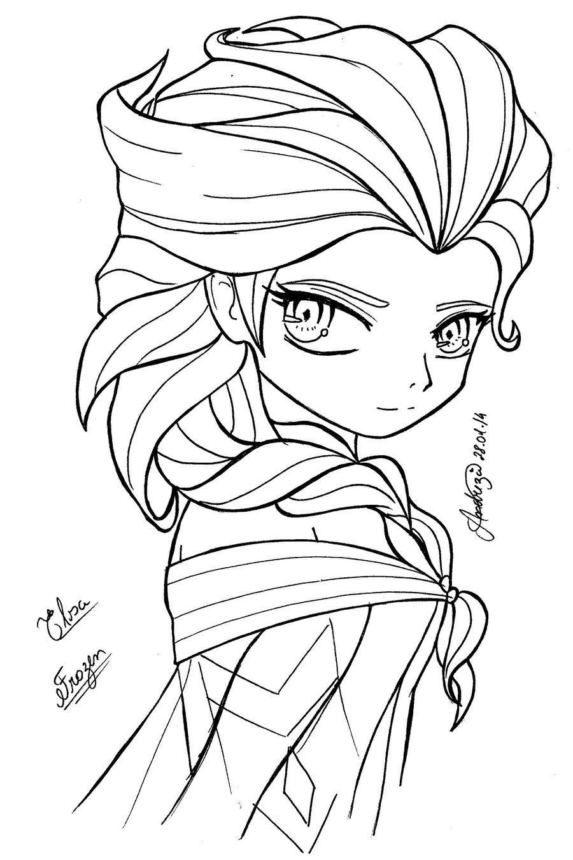 image 24215 coloriage elsa gratuit - Dessin Elsa
