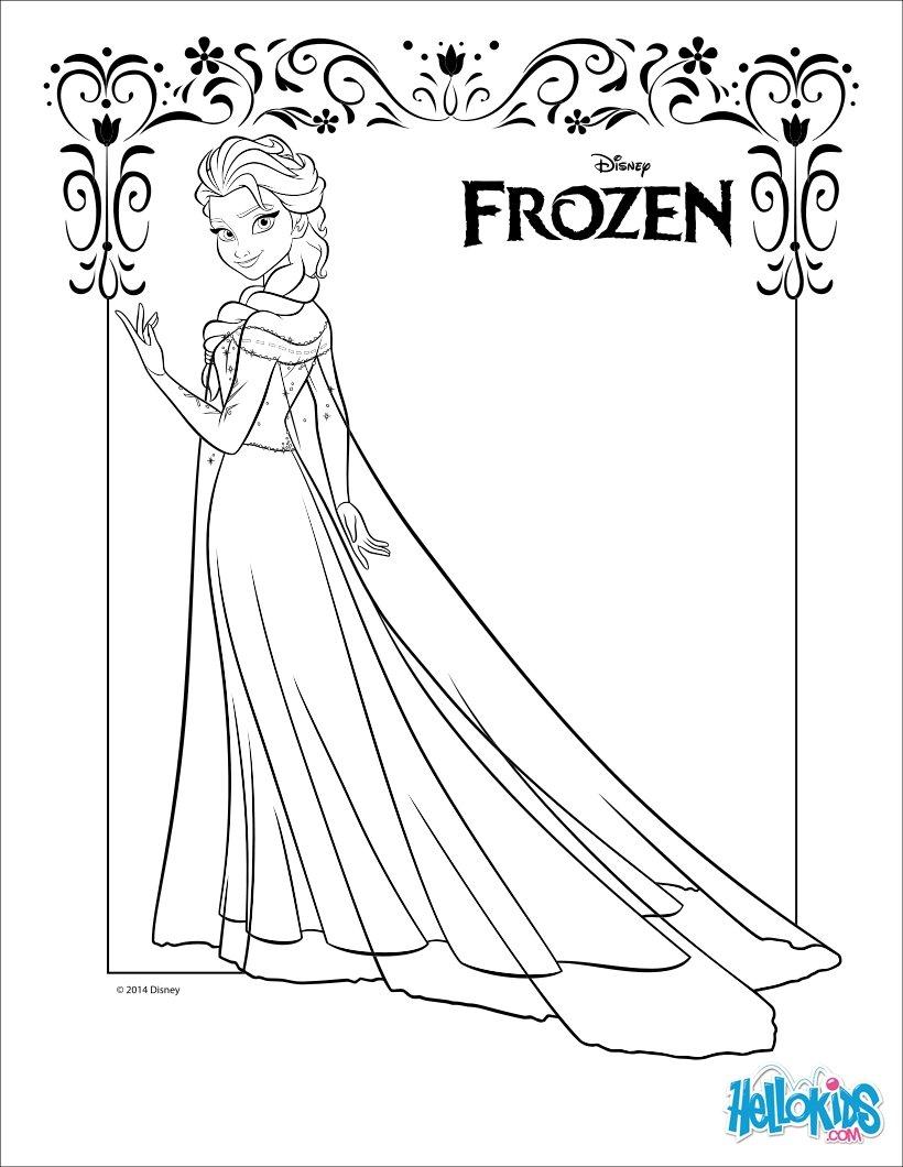 image 24263 coloriage elsa gratuit - Dessin Elsa