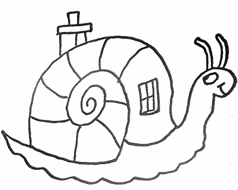 coloriage petit escargot