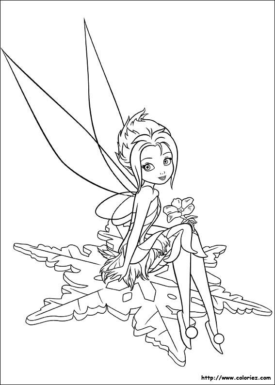 Sélection de dessins de coloriage fée clochette à imprimer sur LaGuerche.com - Page 6