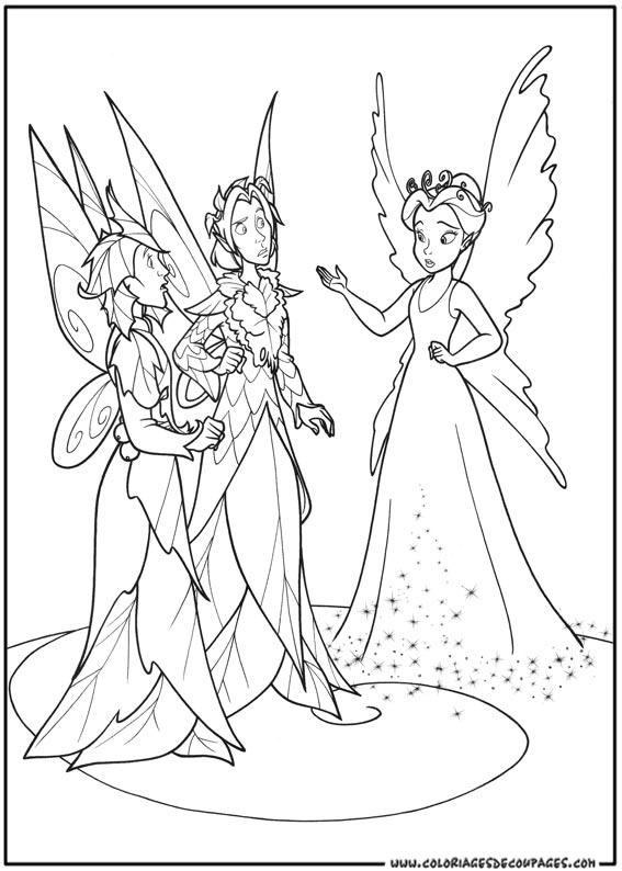 Sélection de dessins de coloriage fée clochette à imprimer sur ...