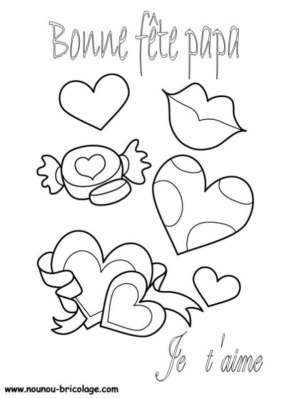 S lection de dessins de coloriage f tes des p res - Dessin fete des peres a imprimer ...