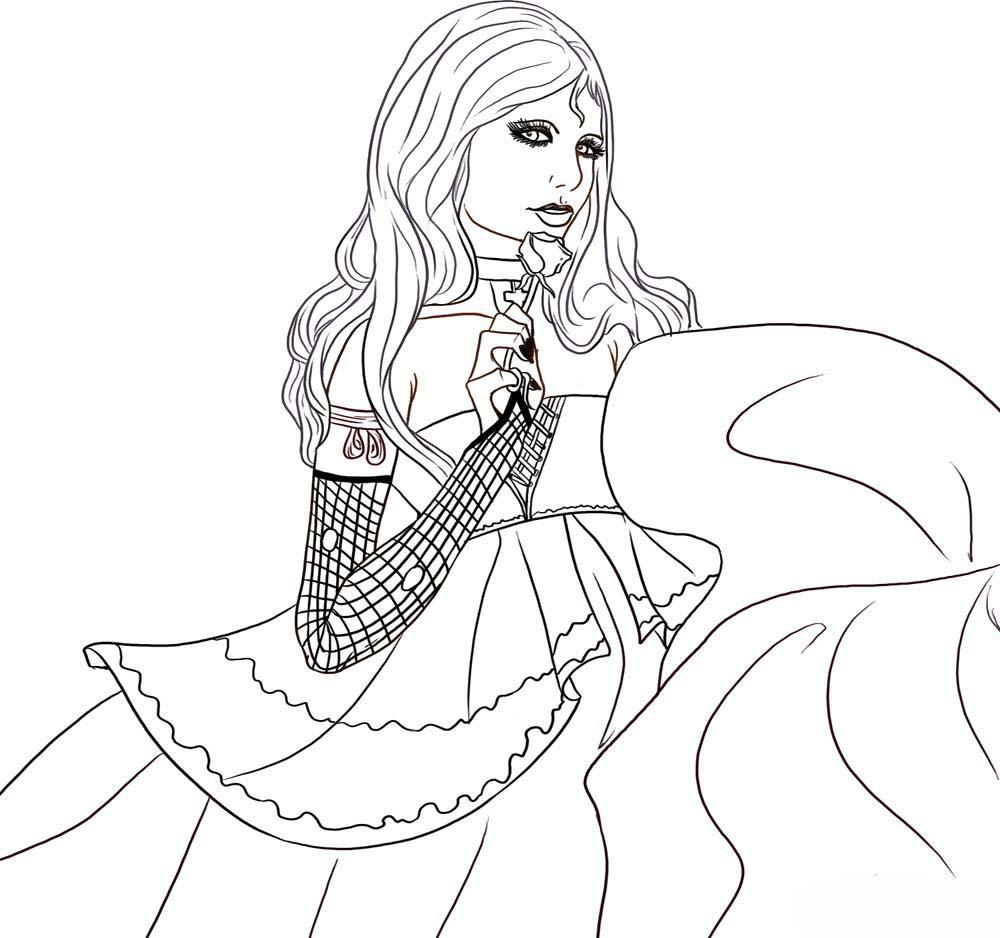 95 dessins de coloriage fille imprimer sur - Dessin a imprimer de fille ...