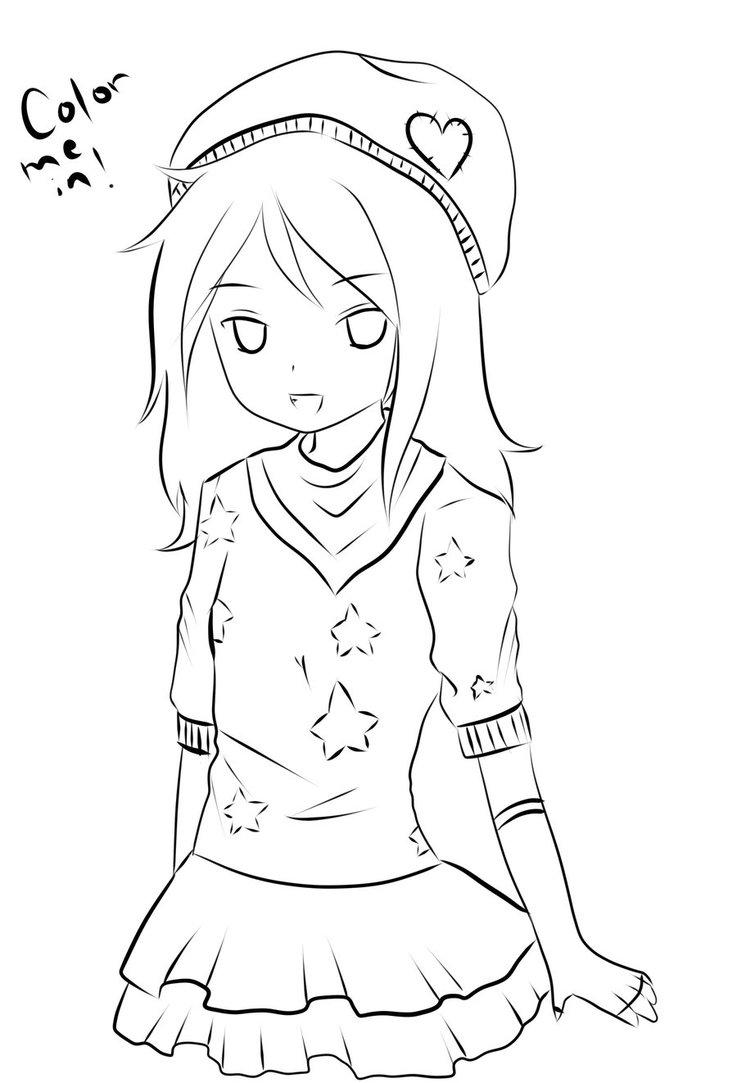 63 dessins de coloriage fille manga imprimer sur - Dessin de fille ...