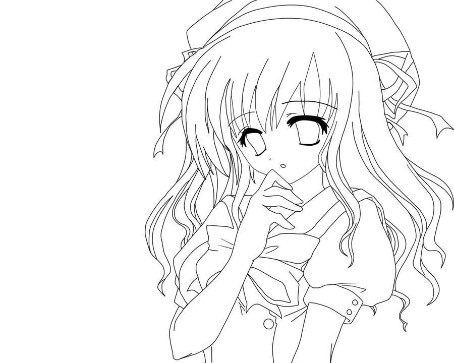 image 24297 coloriage fille manga gratuit