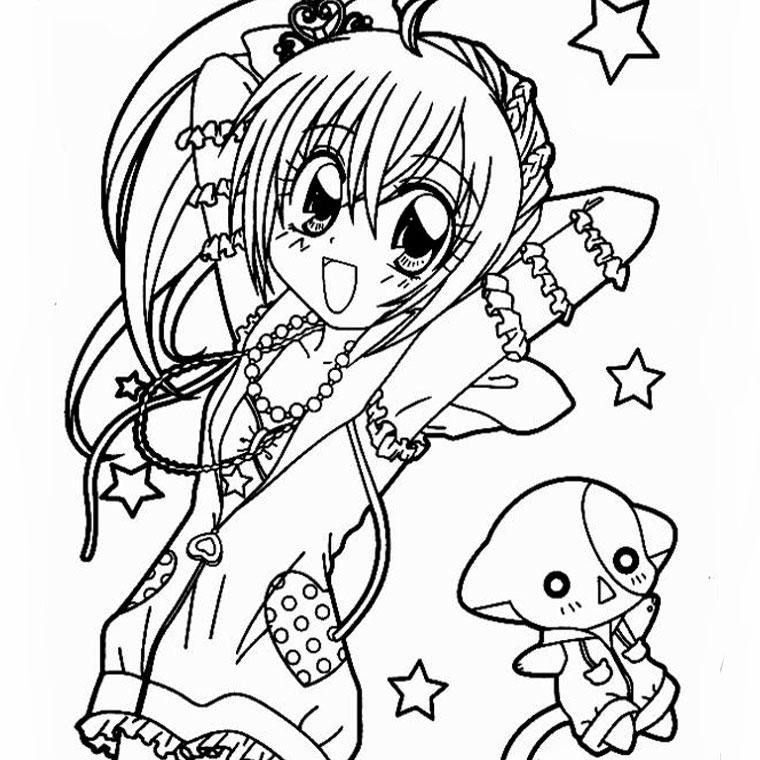 Fabuleux 63 dessins de coloriage fille manga à imprimer sur LaGuerche.com  HS52