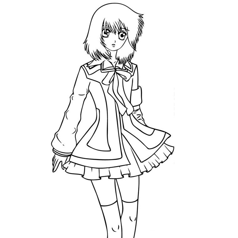 63 dessins de coloriage fille manga à imprimer sur ...