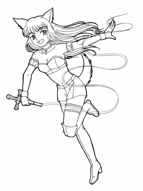 image 24309 coloriage fille manga gratuit