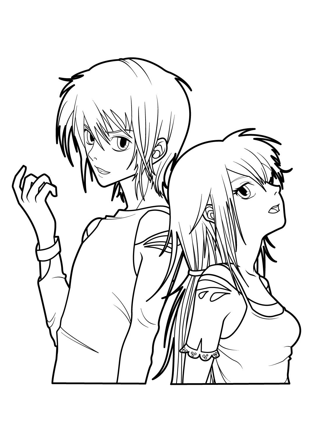 63 dessins de coloriage fille manga à imprimer sur LaGuerche.com - Page 5