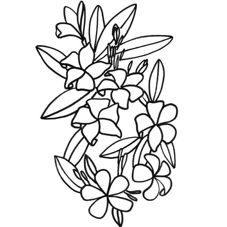 imprimer le coloriage fleur de tiaré pour imprimer le coloriage fleur