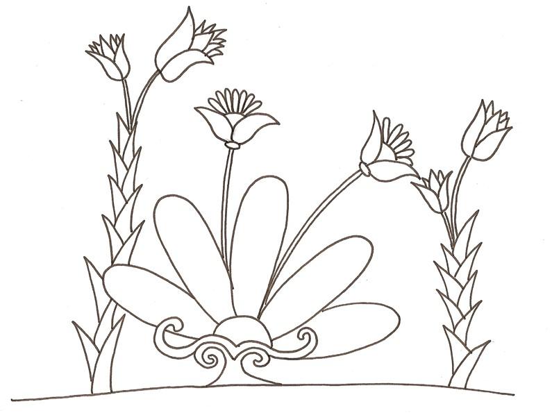 coloriage d'un bouquet de fleurs dessin inspiré de l'art