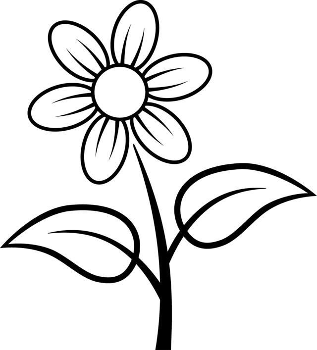 coloriages la nature les fleurs coloriage à imprimer : une fleur