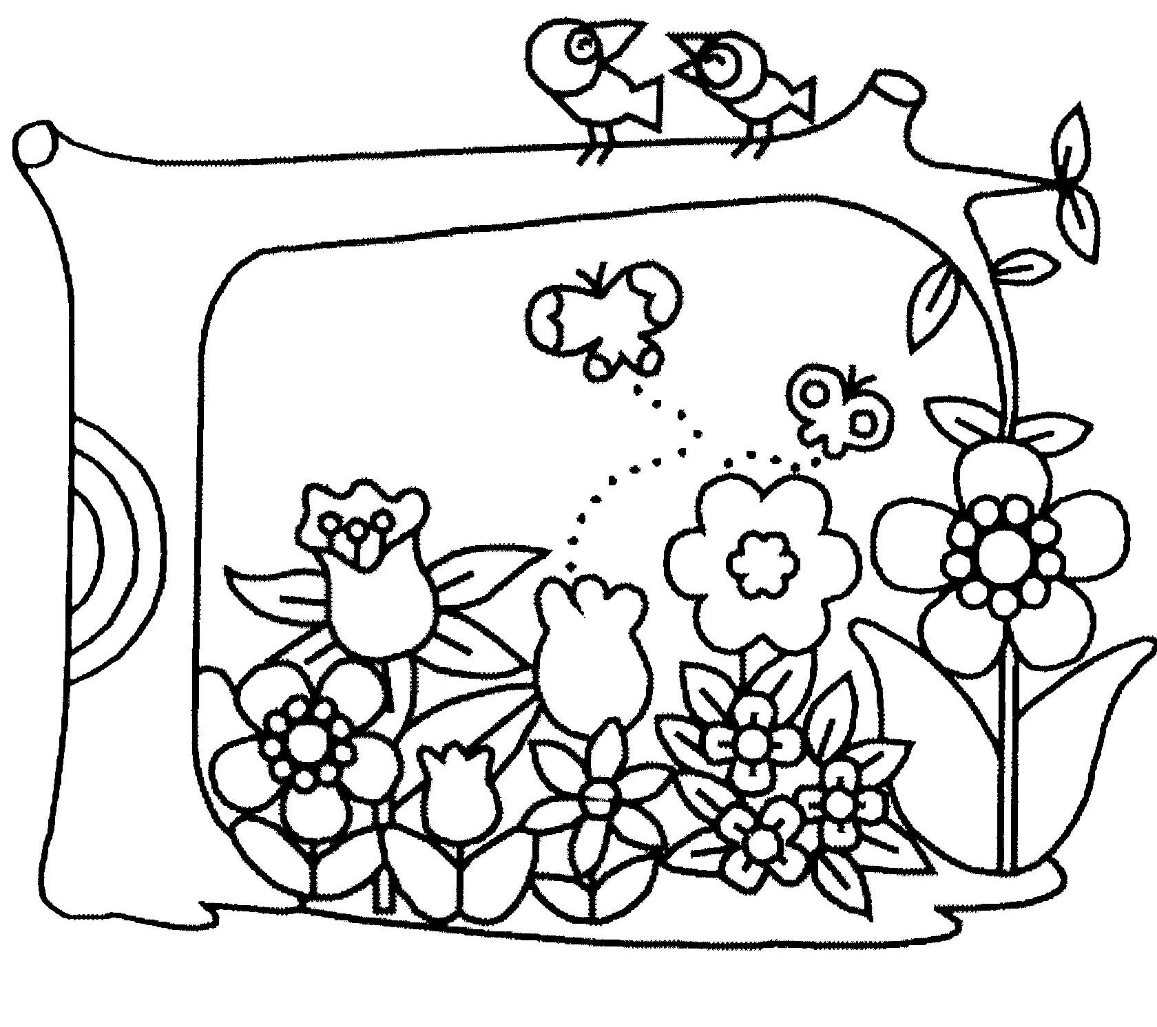 74 dessins de coloriage fleur imprimer sur page 7 for Image de jardin a imprimer