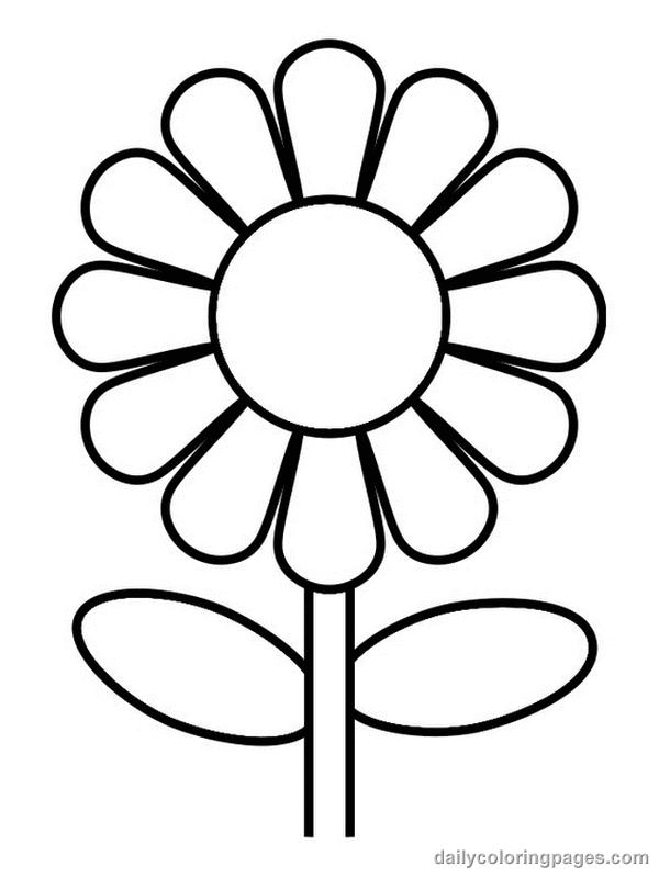 cute fleur dessins à colorier