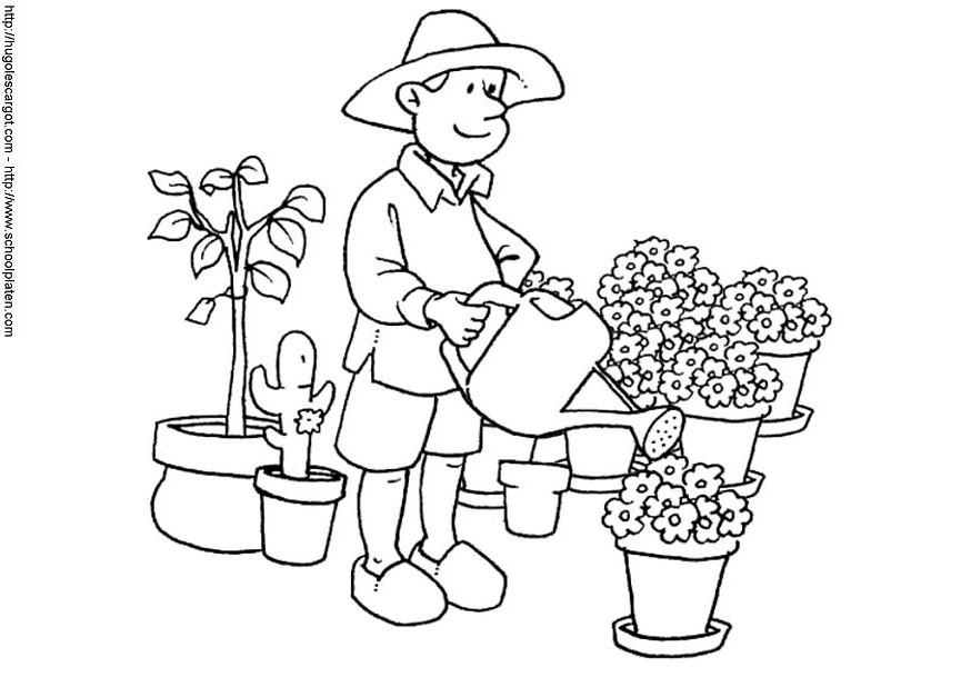 9 dessins de coloriage fleuriste imprimer sur laguerche - Fleuriste dessin ...