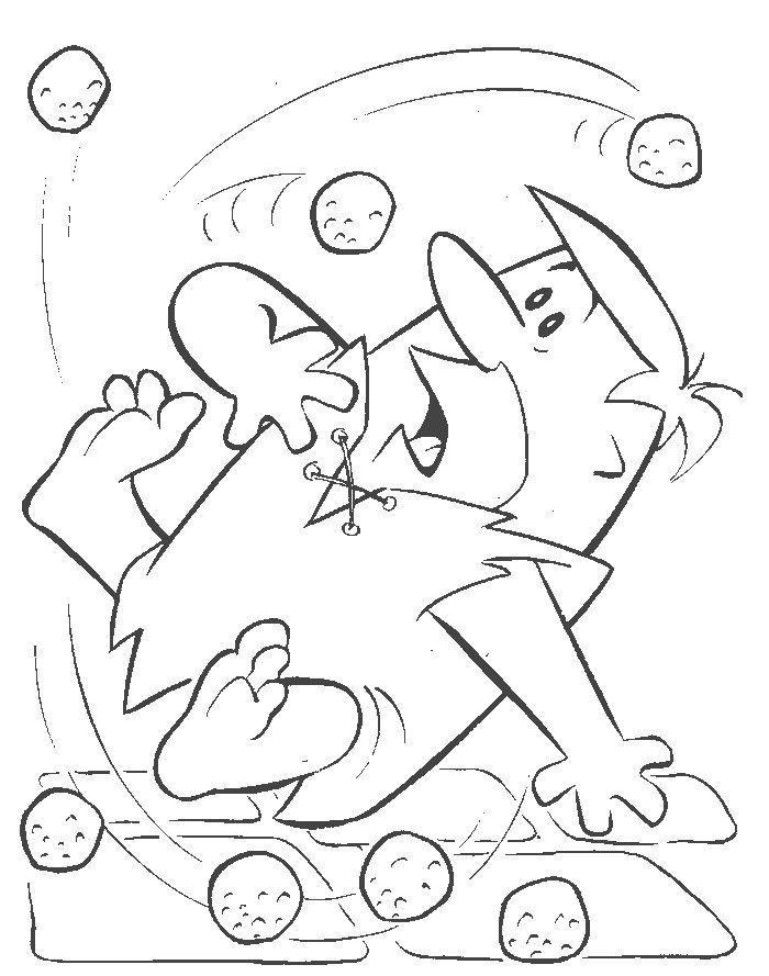 Coloriage flintstones gratuit - dessin a imprimer #18