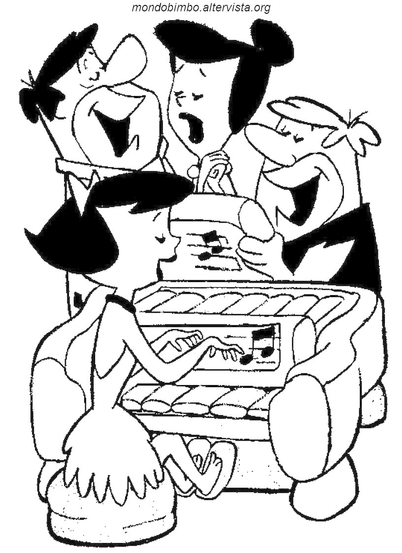 Coloriage flintstones gratuit - dessin a imprimer #194