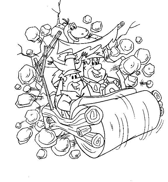 Coloriage flintstones gratuit - dessin a imprimer #22