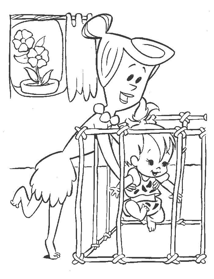 Coloriage flintstones gratuit - dessin a imprimer #27