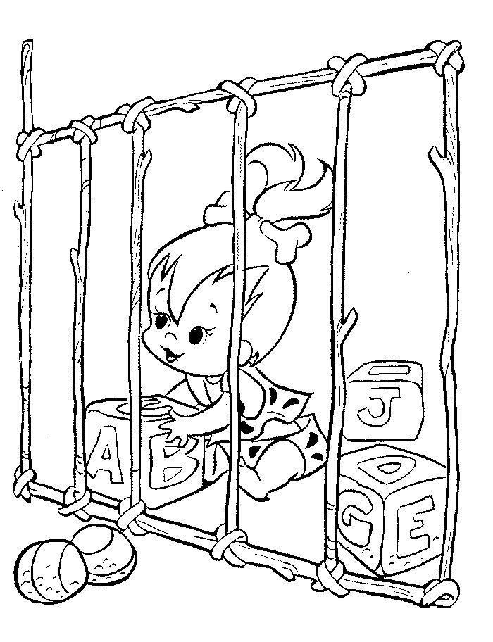 Coloriage flintstones gratuit - dessin a imprimer #74