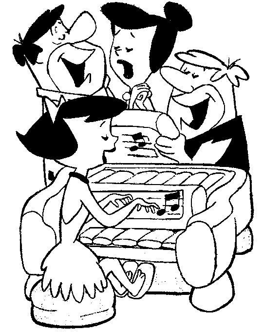 Coloriage flintstones gratuit - dessin a imprimer #84