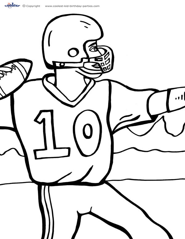 Image #17162 - Coloriage football gratuit