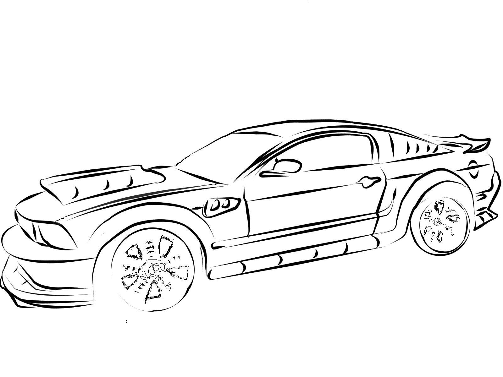28 dessins de coloriage ford imprimer sur for Convertible car coloring pages