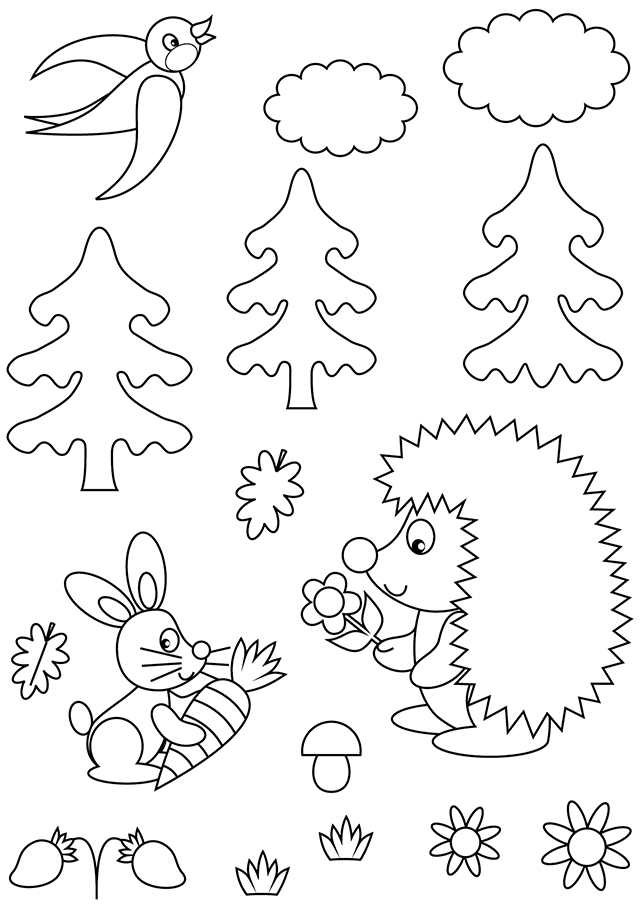 coloriage foret animaux