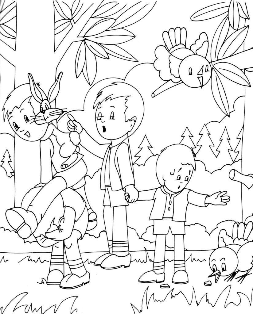 Coloriage forªt gratuit a imprimer coloriage image dessins pour coloriage coloriage dessin enfants foret