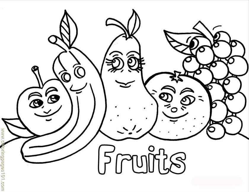 dessins à colorier fruits source po (natural world vegetables gratuit