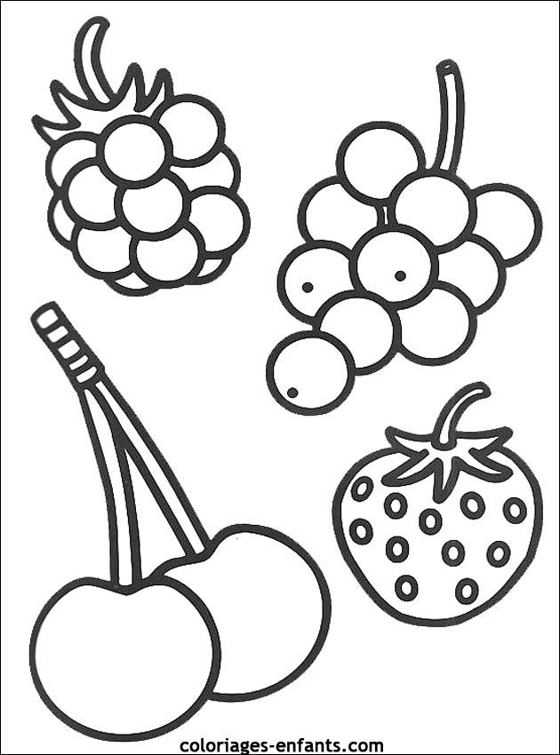 69 dessins de coloriage fruit imprimer sur - Fruits a colorier et a imprimer ...