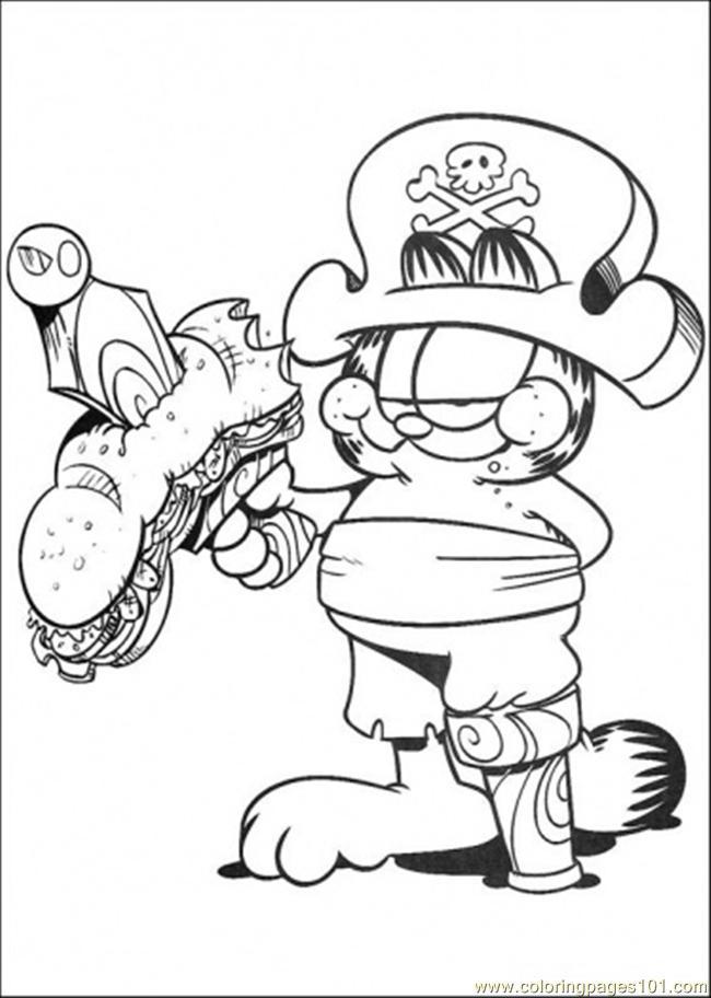 Coloriage garfield gratuit - dessin a imprimer #122