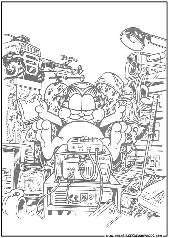 Coloriage garfield gratuit - dessin a imprimer #138