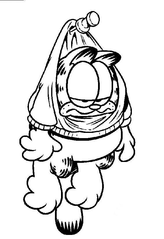 Coloriage garfield gratuit - dessin a imprimer #140