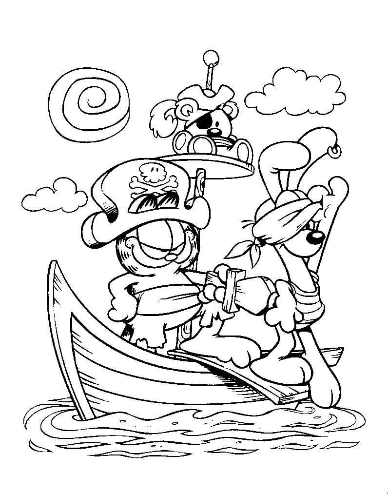 Coloriage garfield gratuit - dessin a imprimer #145